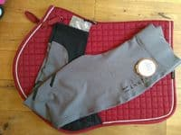 Firefoot Ripon Kids Stretch Breeches. Grey/Black - SPECIAL PURCHASE - 30% OFF RRP